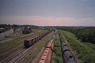 Railyard seen from bridge