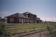Old railroad station - rear view
