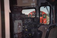 View inside cab of 4134